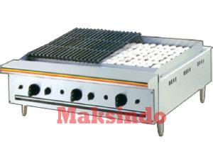 Alat Pemanggang Maksindo Mesin Pemanggang Griddle Gas Gg718 Toko Mesin Maksindo