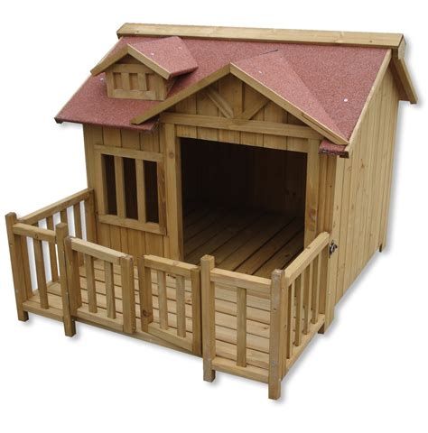 dog house with balcony luxury xl dog kennel dog house wood balcony garden veranda dog outdoor ebay
