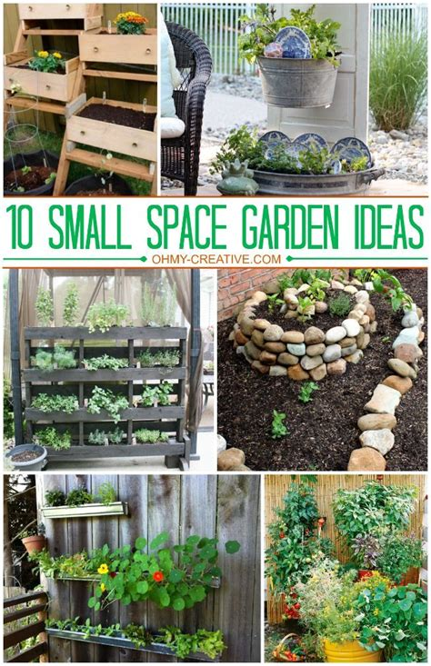 Gardening For Small Spaces - 10 small space garden ideas ohmy creative com gardening the growing garden pinterest