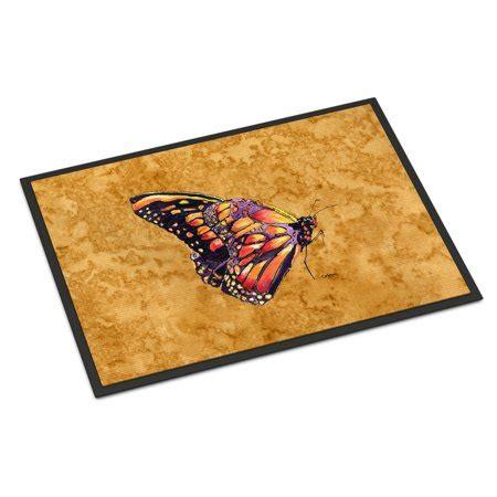 Butterfly Doormat - butterfly on gold indoor or outdoor mat 18x27 doormat
