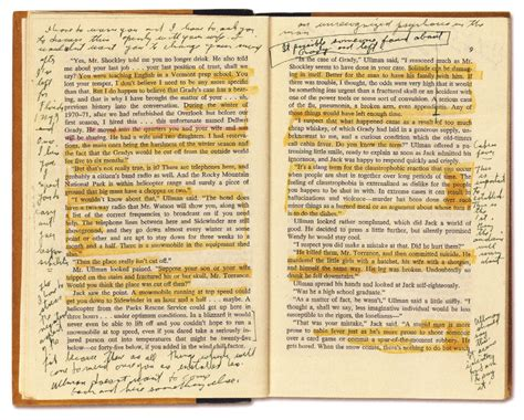 picture book pages stanley kubrick s annotated copy of stephen king s the