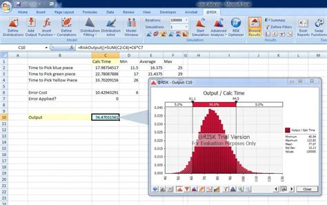 Analyzing Risk With Monte Carlo Simulation The Material Handling Blog Monte Carlo Simulation Excel Template