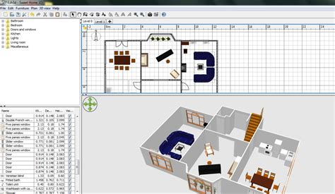sweet home design software free download free floor plan software sweethome3d review