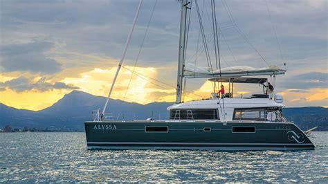 crewed catamaran charter greece alyssa lagoon 560 s2 catamarans crewed yacht greece