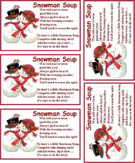 printable key labels snowman soup snowman soup snowman and hot chocolate recipes