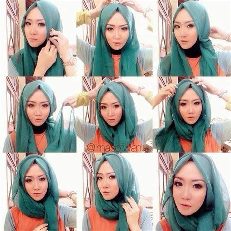 tutorial jilbab layer 10 tutorial hijab paris untuk wisuda meski sederhana