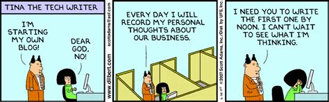 dilbert office gossip friday rant the personal benefits of writing enterprise