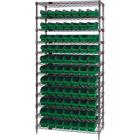 quantum storage 77 bin chrome wire shelf bin system new ebay