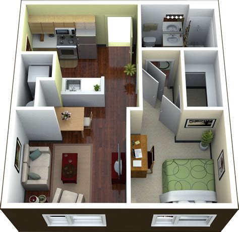 1 bedroom apartment in 1 bedroom floor plans for apartment design ideas 2017