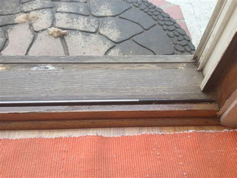 Salvage Or Replace Rotting Sliding Door Sill Building Patio Door Sill