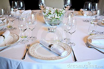 fancy place setting fancy table set for a dinner stock images image 3536264