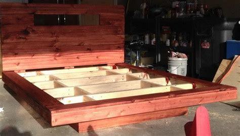 build  diy floating bed frame  led lighting