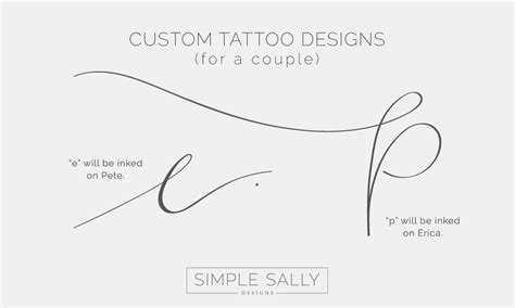 custom tattoo design for couples erica amp pete 187 simple sally