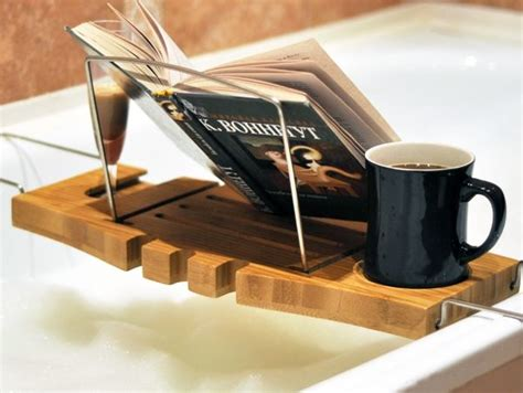reading in the bathtub 15 bathtub tray design ideas for the bath enthusiasts among us