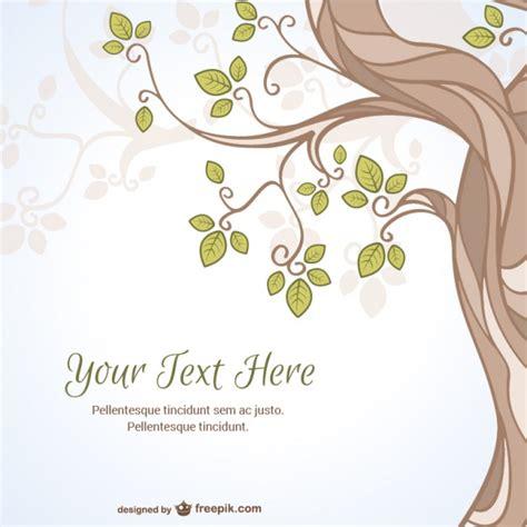 Kostenlose Vorlage Fingerabdruck Baum Vektor Vorlage Mit Baum Der Kostenlosen Vektor