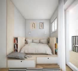 Superbe Agencer Une Petite Chambre #2: amenagement-petite-chambre-lit-plate-forme-bois-tiroirs.jpg