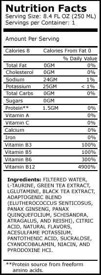 xs energy drink nutrition label xs energy drink nutrition facts nutrition ftempo