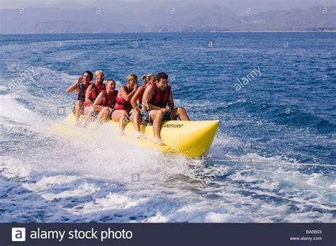 banana boat rides alcudia banana boat stock photos banana boat stock images alamy