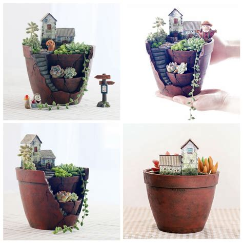 cute pots for plants natural resin cute flower pot plant succulent planter