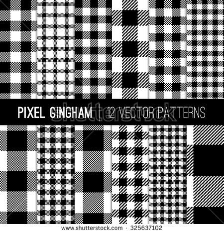 check vs plaid black and white gingham patterns and buffalo check plaid