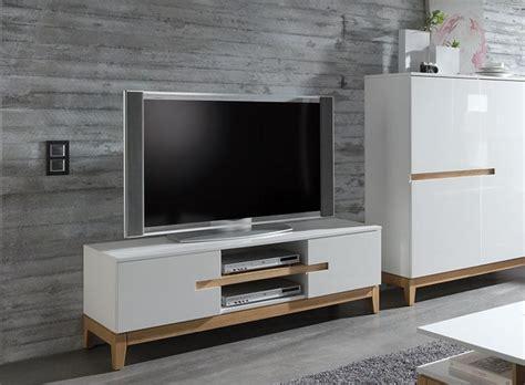 modern tv units sandrine contemporary high gloss white and oak tv unit