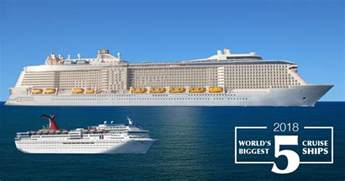 Largest Cruise Ship by 5 Largest Cruise Ships In 2018 Can You Guess The World S