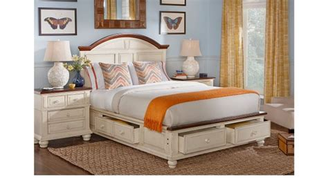king bedroom set with storage berkshire lake white 7 pc king storage bedroom panel