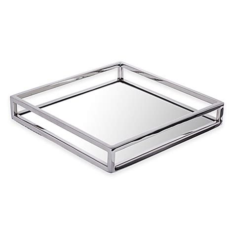 mirrored bathroom tray classic touch mirrored tray bed bath beyond