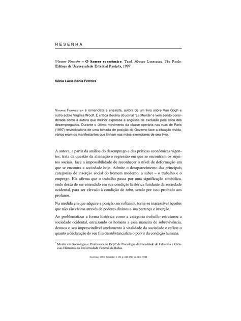 Resenha Livro Horror Economico | Economia | Sociologia