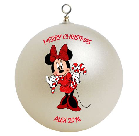 personalized minnie mouse christmas ornament gift ornaments
