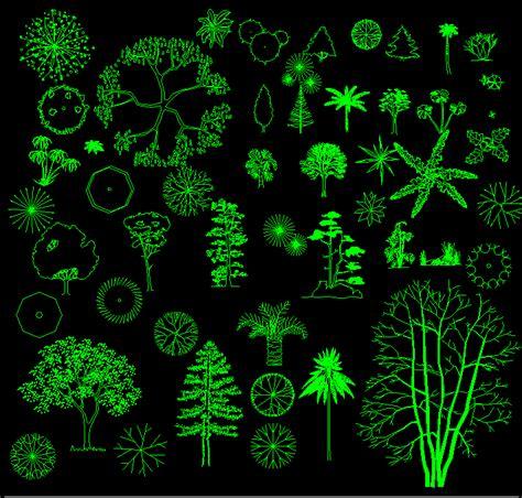 tree blocks dwg designer world