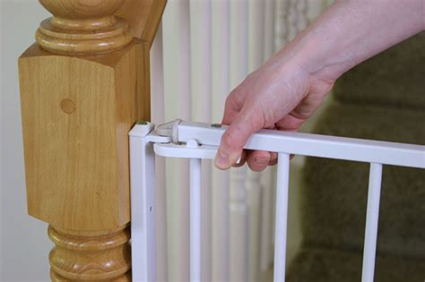 Baby Gates For Banister Regalo Extra Tall Top Of Stairs Gate Product Shot