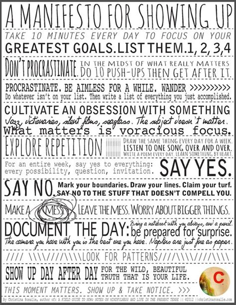 Creative Manifesto By Ali Edwards by A Manifesto For Showing Up Rosalie Words