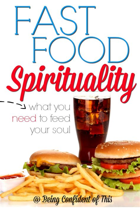 Would You Want Your Meals In A Pill Form by Fast Food Spirituality Being Confident Of This