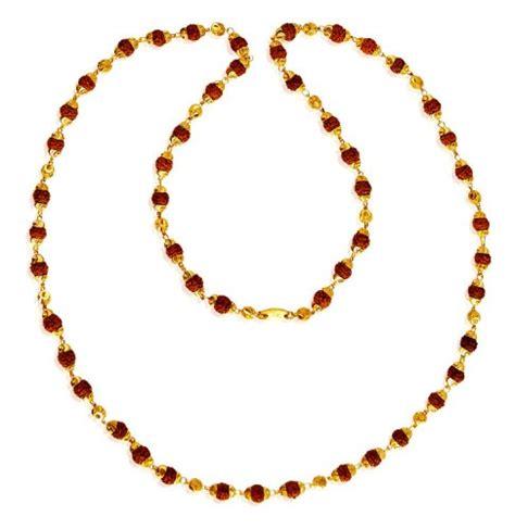 gold mala pattern 22kt gold rudraksh mala asch61635 22k gold rudraksha