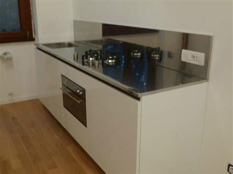 blocco cucina inox c57 blocco cucina inox e bianco l 255 cm cucine in
