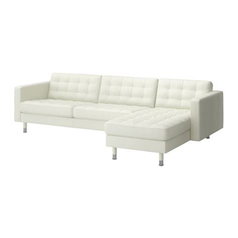 Ikea Chaise Lounge Sofa Landskrona Sofa And Chaise Lounge Grann Bomstad White Metal Ikea