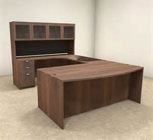 Modern U Shaped Desk 5pc U Shaped Modern Contemporary Executive Office Desk Set Of Con U4 Ebay