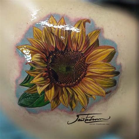 realistic sunflower tattoo 40 fantastic sunflower tattoos that will inspire you to