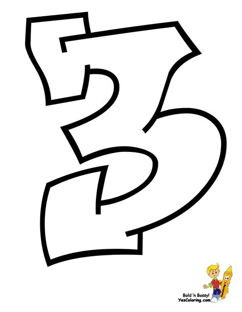 printable graffiti numbers free coloring pages of graffiti number 0