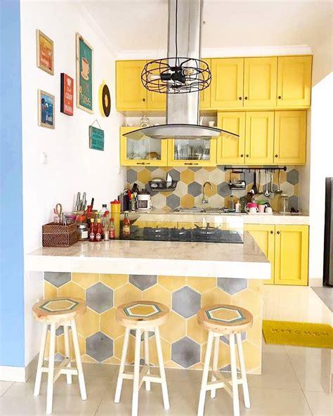 model kitchen set minimalis dapur kecil sederhana