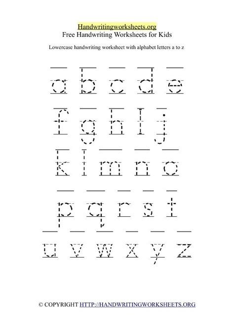free printable traceable handwriting worksheets make a printable alphabet letter tracing worksheets 26
