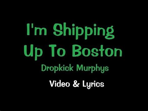 shipping up to boston im shipping up to boston karaoke youtube