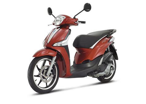 liberty 125 rosso 3 4ant sx 4158 motorcycle