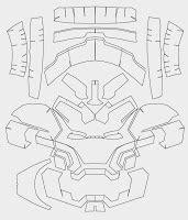 Dali Lomo Iron Man Mark 42 Costume Helmet Diy Cardboard Build With Template Iron Helmet Template Pdf