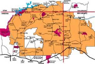 navajo reservation map