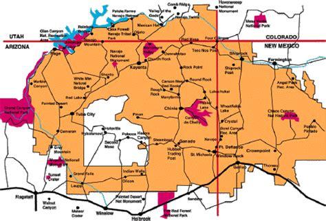 navajo reservation arizona map arizona map navajo reservation
