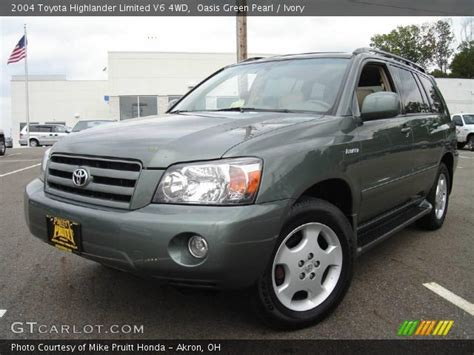 2004 Toyota Highlander Limited Oasis Green Pearl 2004 Toyota Highlander Limited V6 4wd