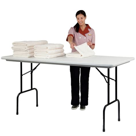 Folding Bar Height Table Correll Rs3072 23 Heavy Duty Plastic Top Standing Height Folding Table Gray Granite 30 W X 72 L