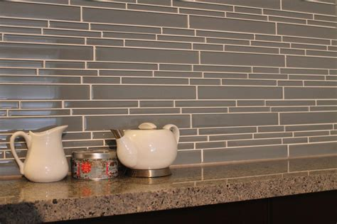 chimney smoke linear glass mosaic tile kitchen backsplash contemporary vancouver by rocky